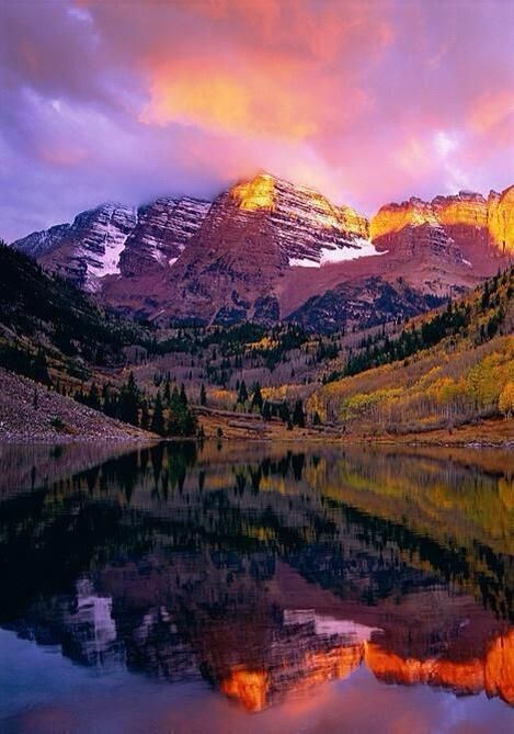 maroon bells sunset aspen
