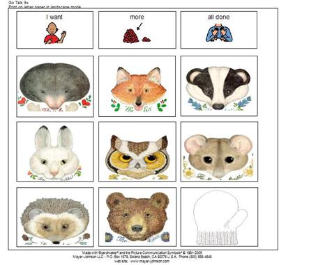 Go talk 9 the mitten. Kids learning activities