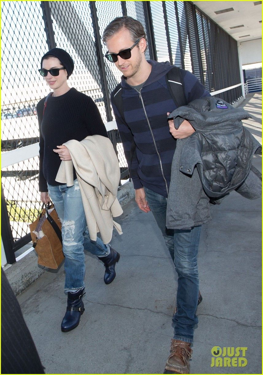 Anne Hathaway: 'Song One' Premieres Today at Sundance!   Adam Shulman, Anne Hathaway Photos   Just Jared