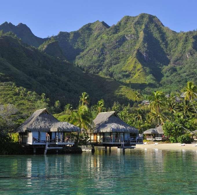 Tahiti Accommodation Over Water Bungalows: InterContinental Moorea Resort