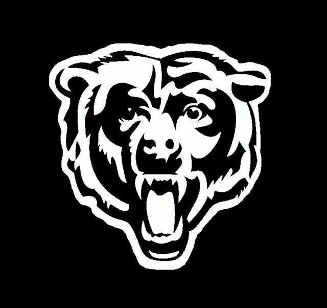 The Bears Chicago Bears Logo Football Decal Chicago Bears