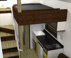 Humble Homes Small Apartment Incorporates Mezzanine Bedroom To Maximize On Space | Humble Homes