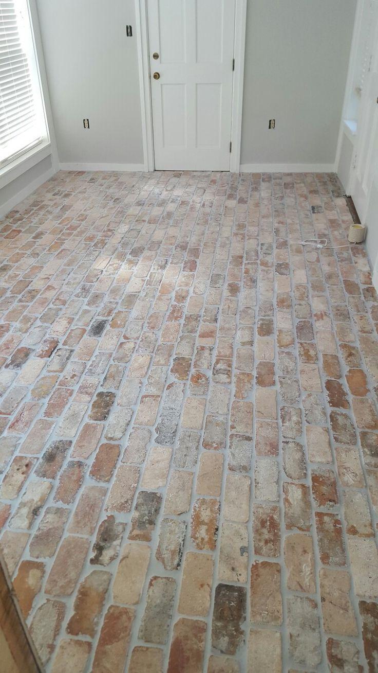 Brick floor old chicago pavers
