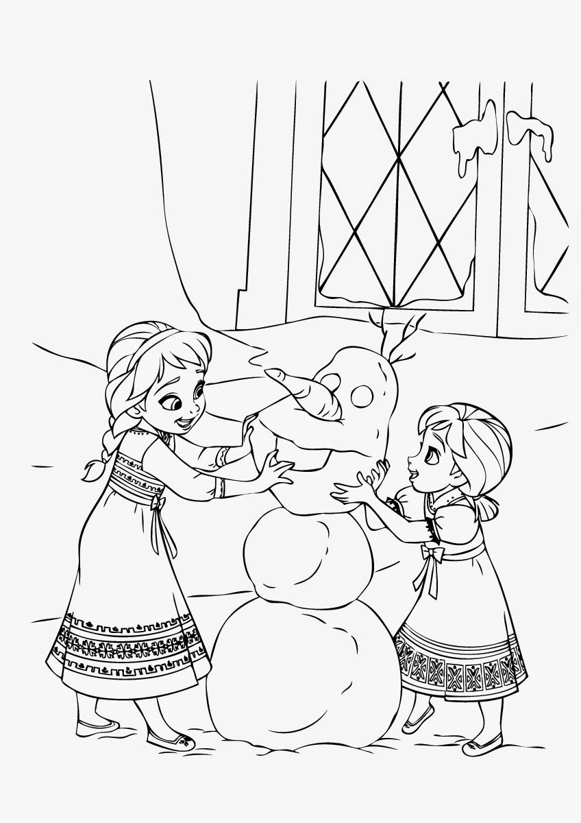 Coloring Pages Elsa And Anna Jpg 848 1 200 Pixels 겨울왕국 색칠
