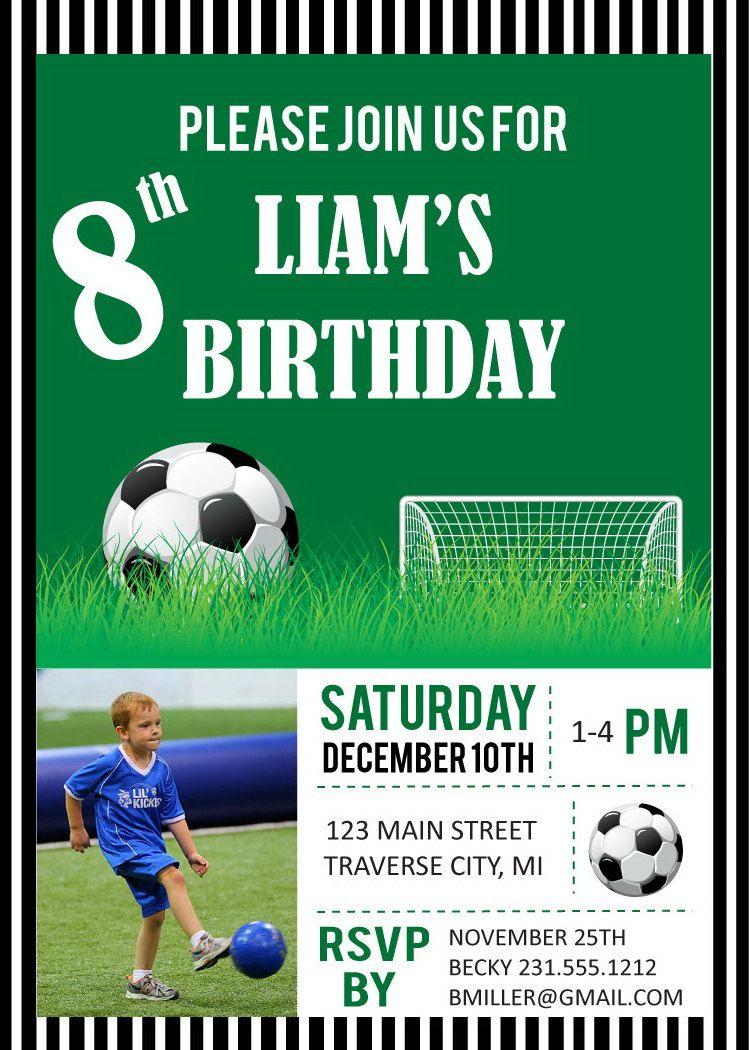 soccer party invitation Детский праздник pinterest soccer