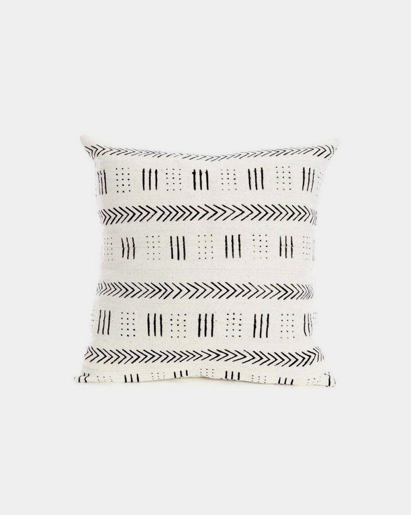 Handmade African Mudcloth Polka Dot Decorative Pillow African Mud Cloth Pillows Handmade Home Decor