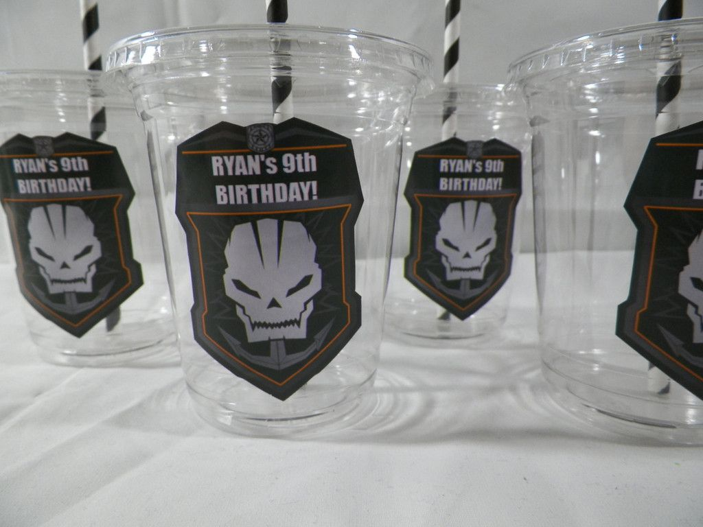 10 cups call of duty black ops birthday party favors cups with