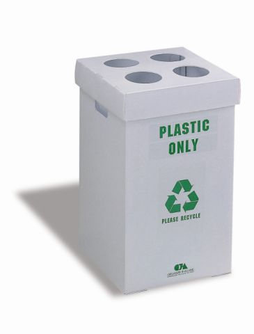 smaller, cheaper - for office spaces?    White Collapsible Recycling Bin