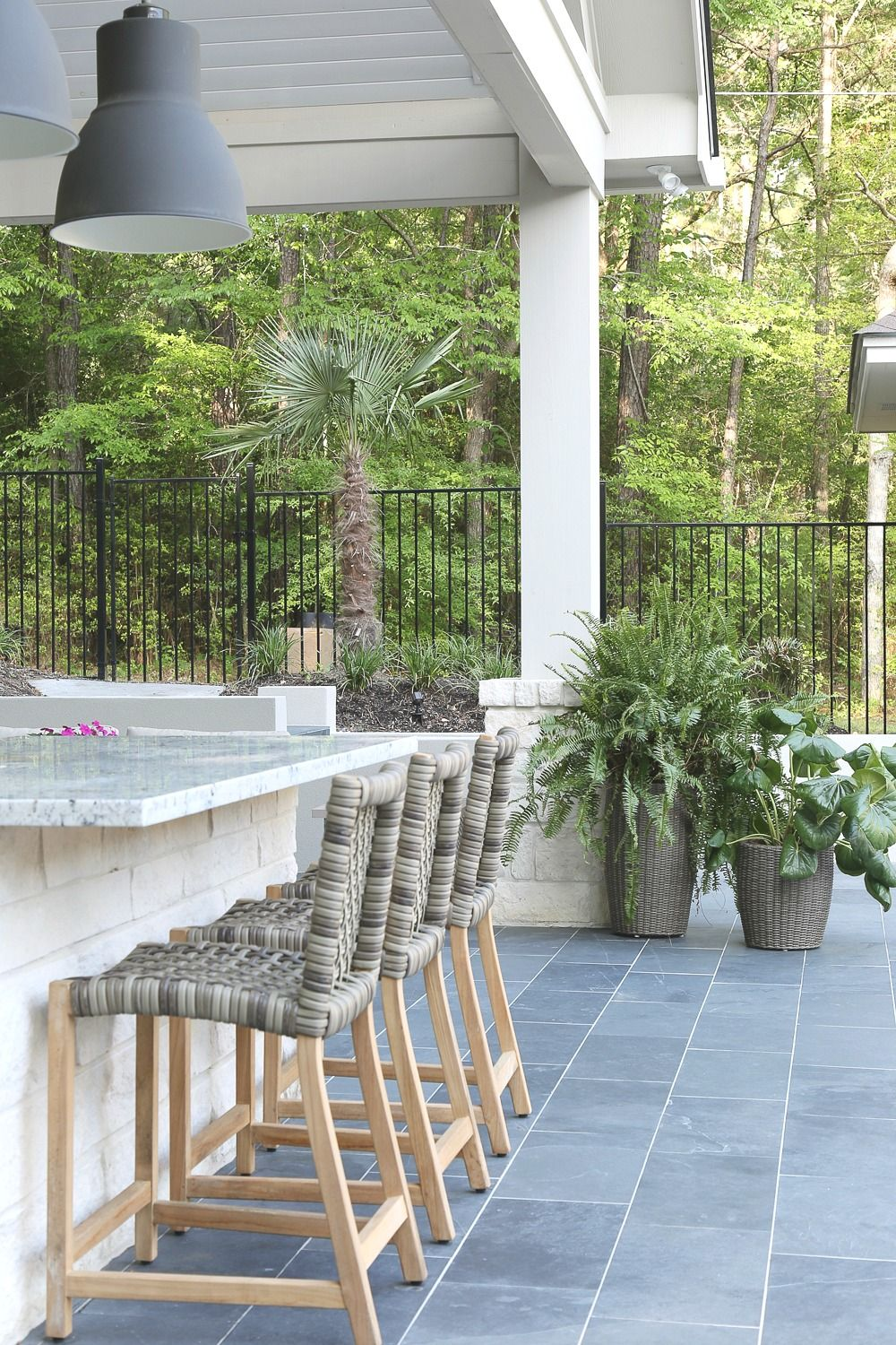 Outdoor Kitchen And Pool House Project Reveal Outdoor Kitchen Design Outdoor Tiles Outdoor Kitchen Design Layout