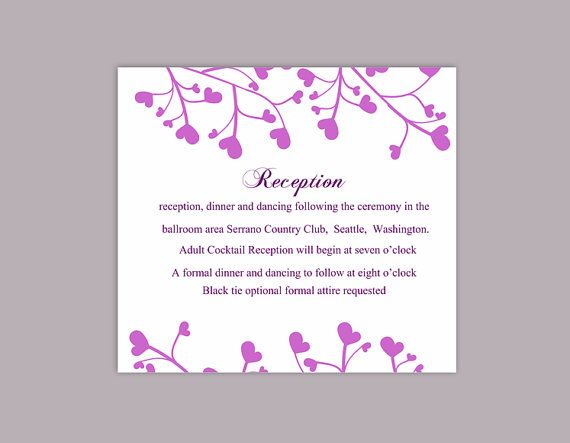 DIY Wedding Details Card Template Download Printable Wedding - information templates word