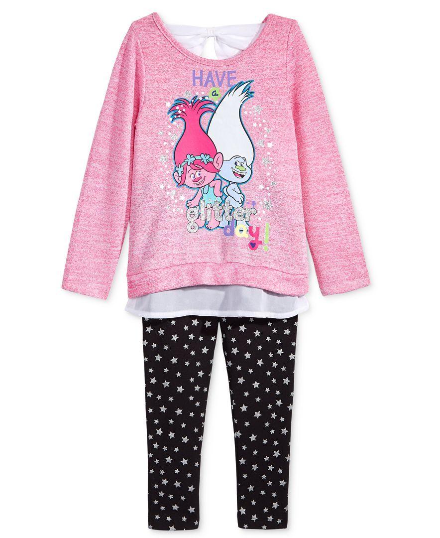 99d5cfa47 DreamWorks Trolls Layered-Look Tunic & Leggings 2-pc. Set, Toddler Girls  (2T-6X)