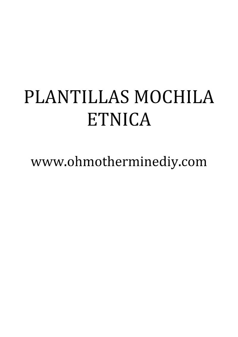 PATRON MOCHILA ETNICA.pdf   Costura   Pinterest   Étnico, Mochilas y ...
