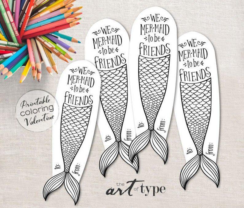 Mermaid Homeschool Craft Printable Coloring Page Bookmark