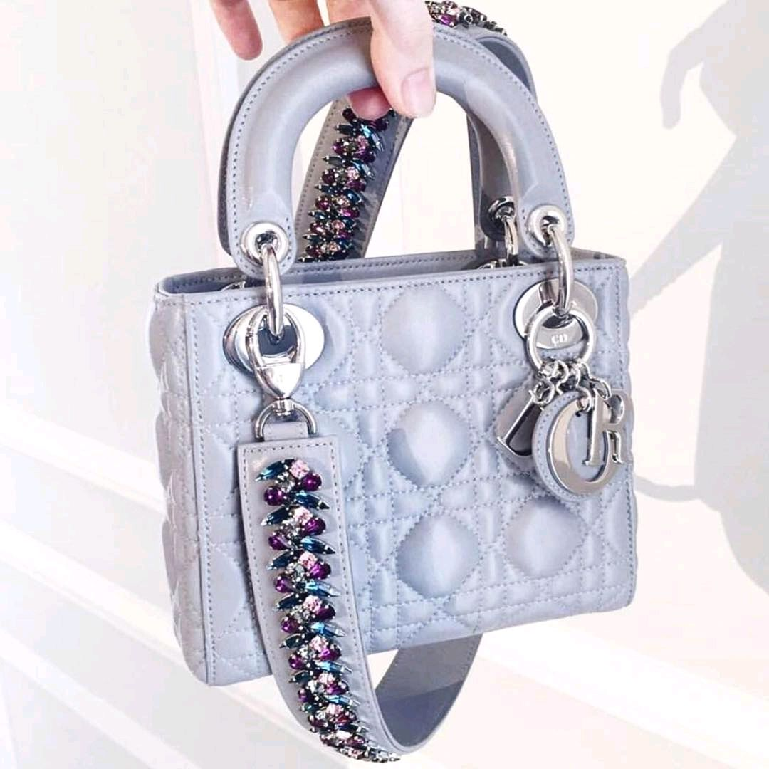 20c0498df45e A-Closer-Look-Lady-Dior-Bag-with-Crystal-Shoulder-Strap