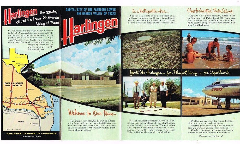 Vintage Texas Travel Brochure Harlingen Chamber Of Commerce Lower