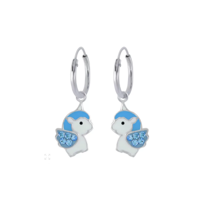 Children S Earrings Sterling Silver 10mm Hoops With
