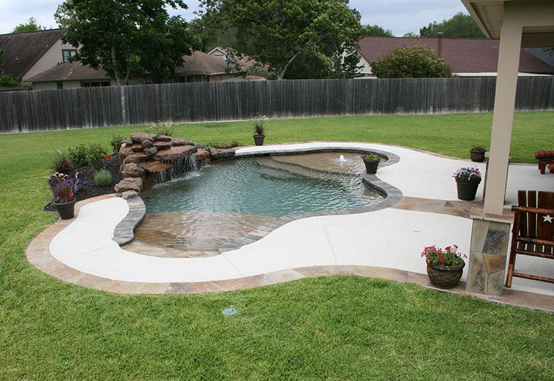 Zero Entry Pool Designs Natural Free Form Swimming Pools Design 215 Small Pool Design Backyard Pool Designs Small Backyard Design