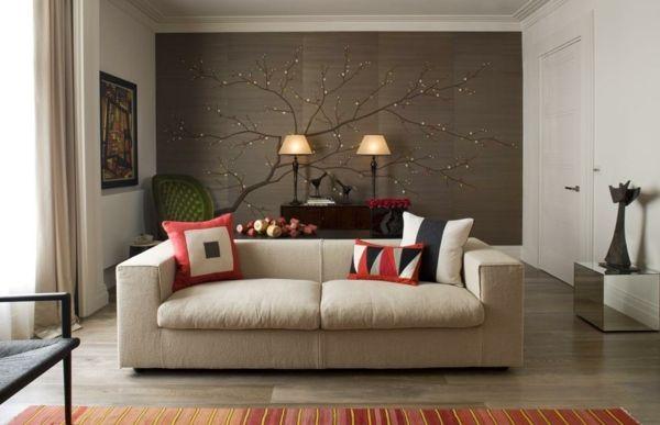 wandgestaltung wohnzimmer mit tapete Beispiele | Wohnzimmer ...