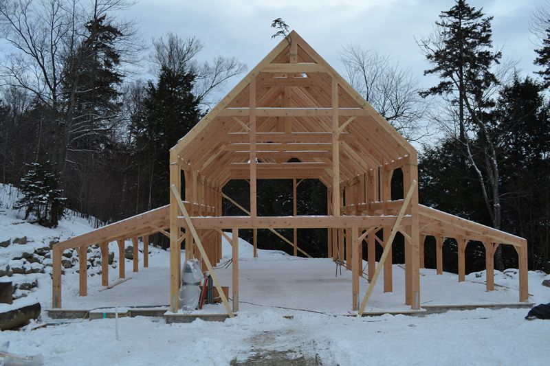 Timber frame homes timber frame post and beam homes for Post and beam kits maine