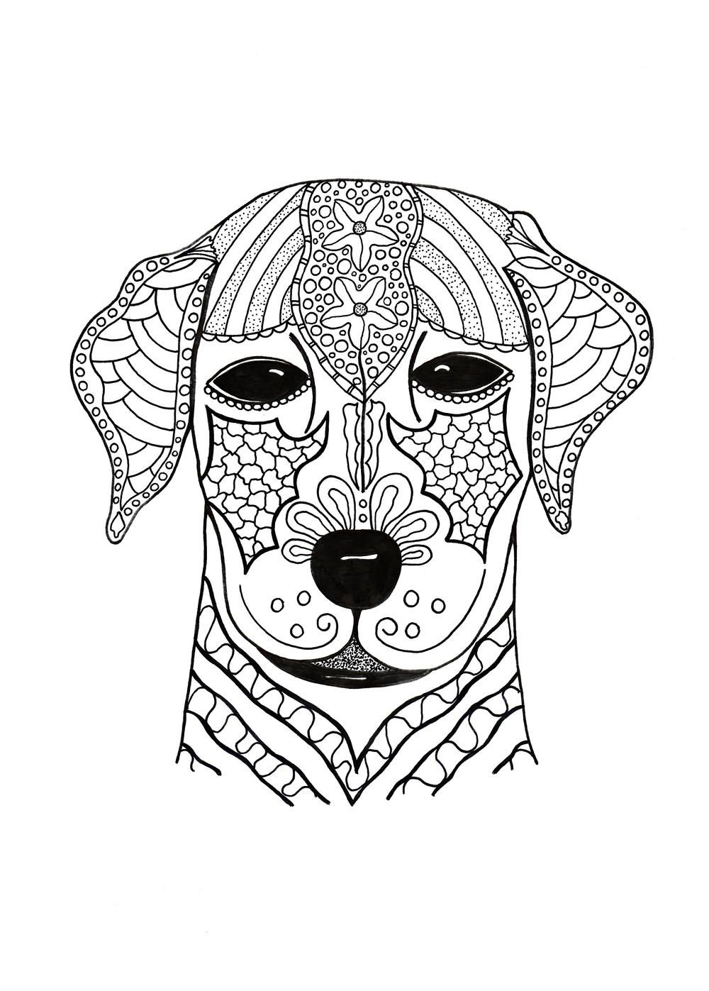 I Woof You Adult Coloring Page Horse coloring pages