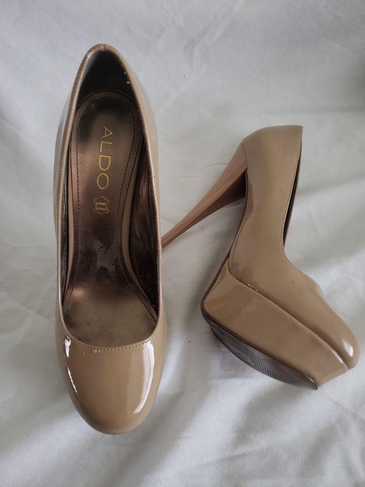 8f0165ea9b76a Womens Aldo Leather Nude Beige Platform Pumps Size US 8 #fashion #clothing # shoes #accessories #womensshoes #heels (ebay link)