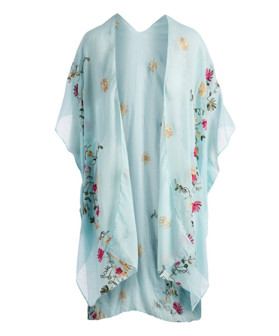 01bb5321a2 Take a look at this Sky Blue Floral Kimono - Women today! | zulliy ...