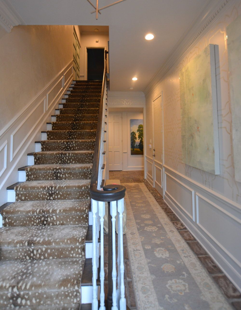 Entry stairs afterjpg potomac gets pretty pinterest entry stairs