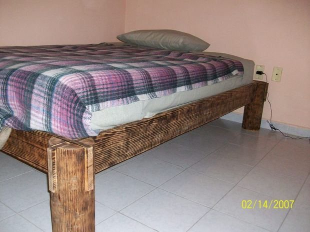 Nail Less Glue Less Almost Screw Less Fire Finished Bed Pallet