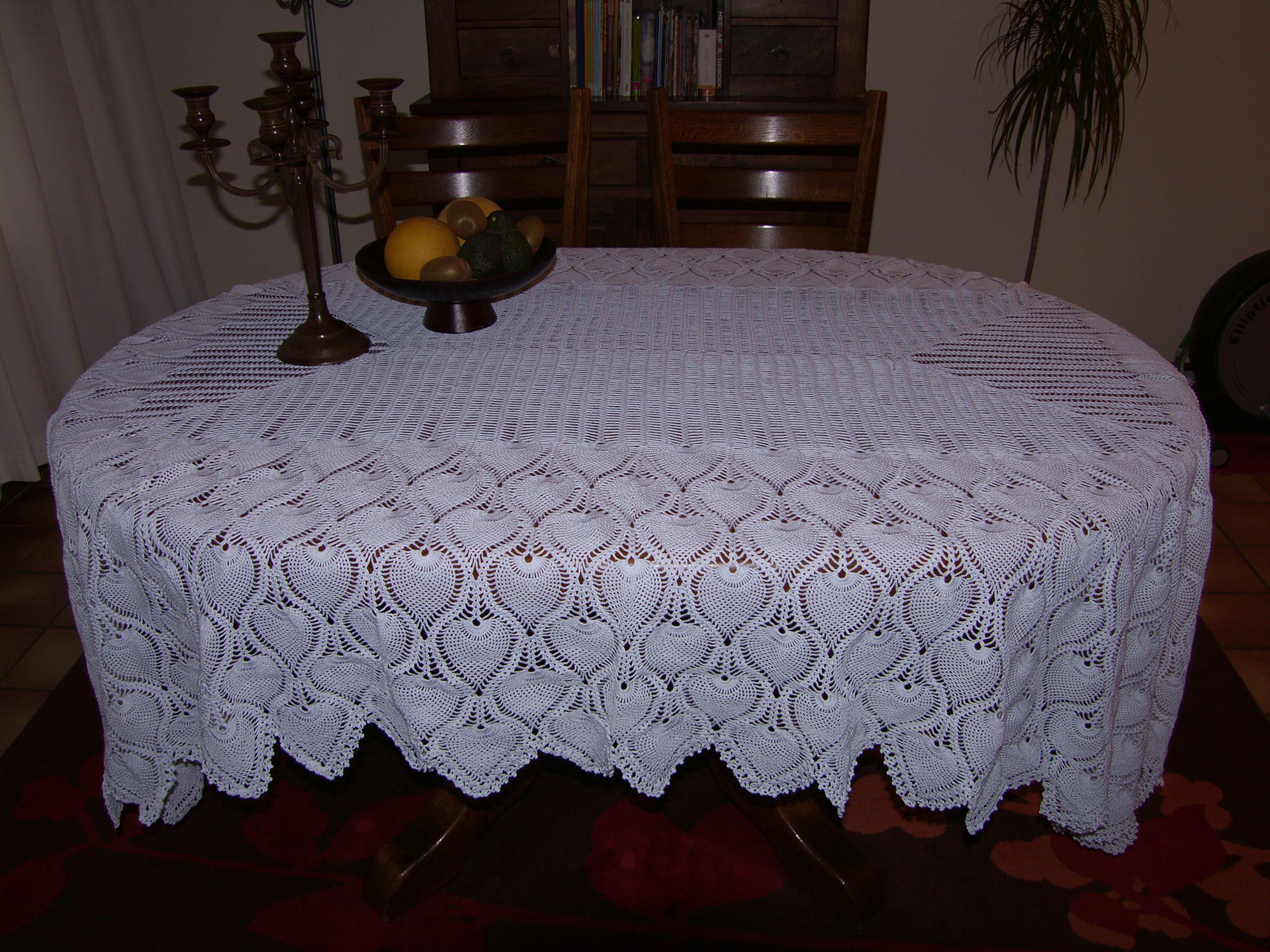 Vintage Pineapple Tablecloth Written Pattern Crochet