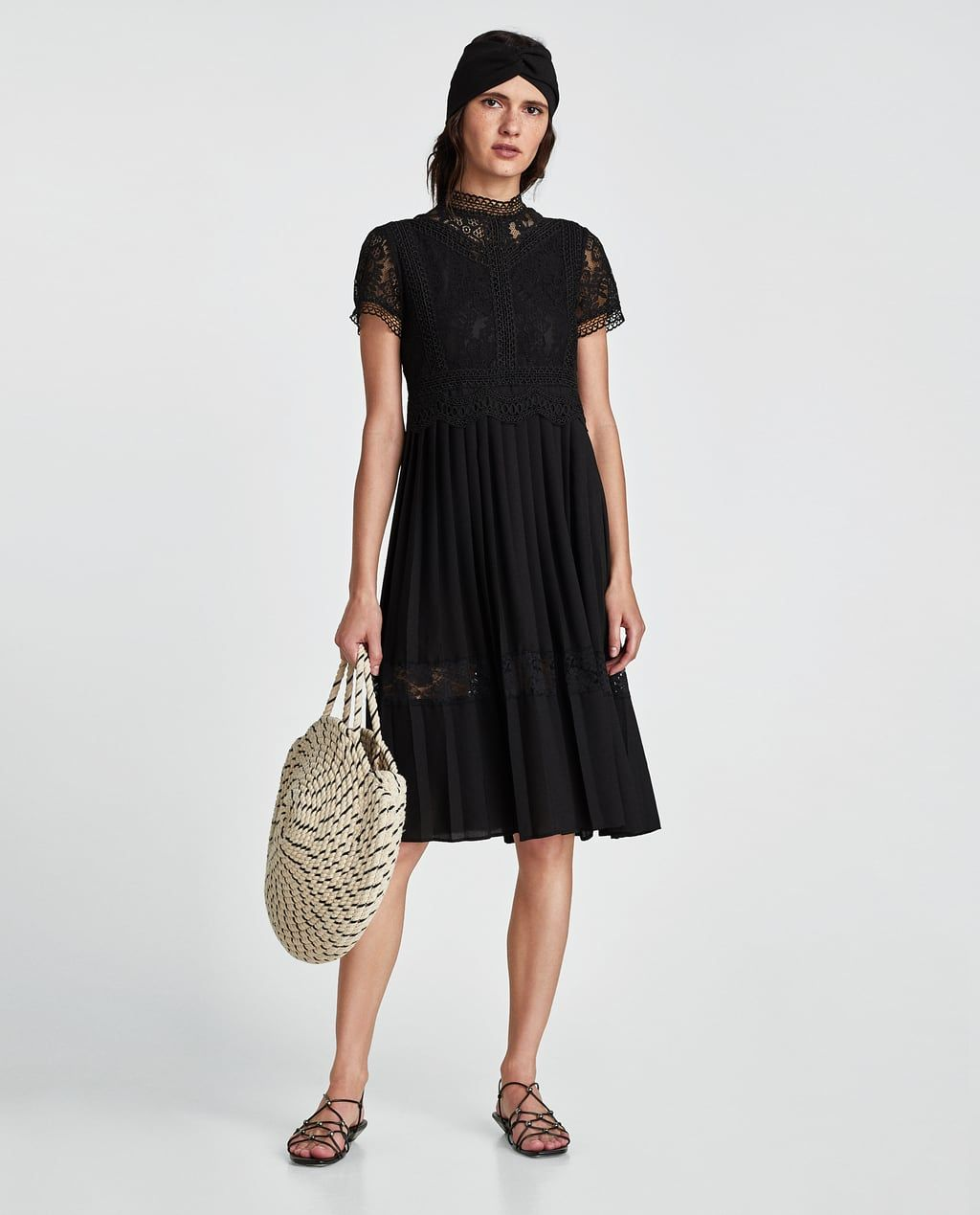 d7eb9a0c CONTRAST LACE DRESS-View all-DRESSES-WOMAN | ZARA United States Lace Midi