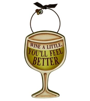 Whimsical ceramic wine glass wall decoration   Wine Gift Ideas ...