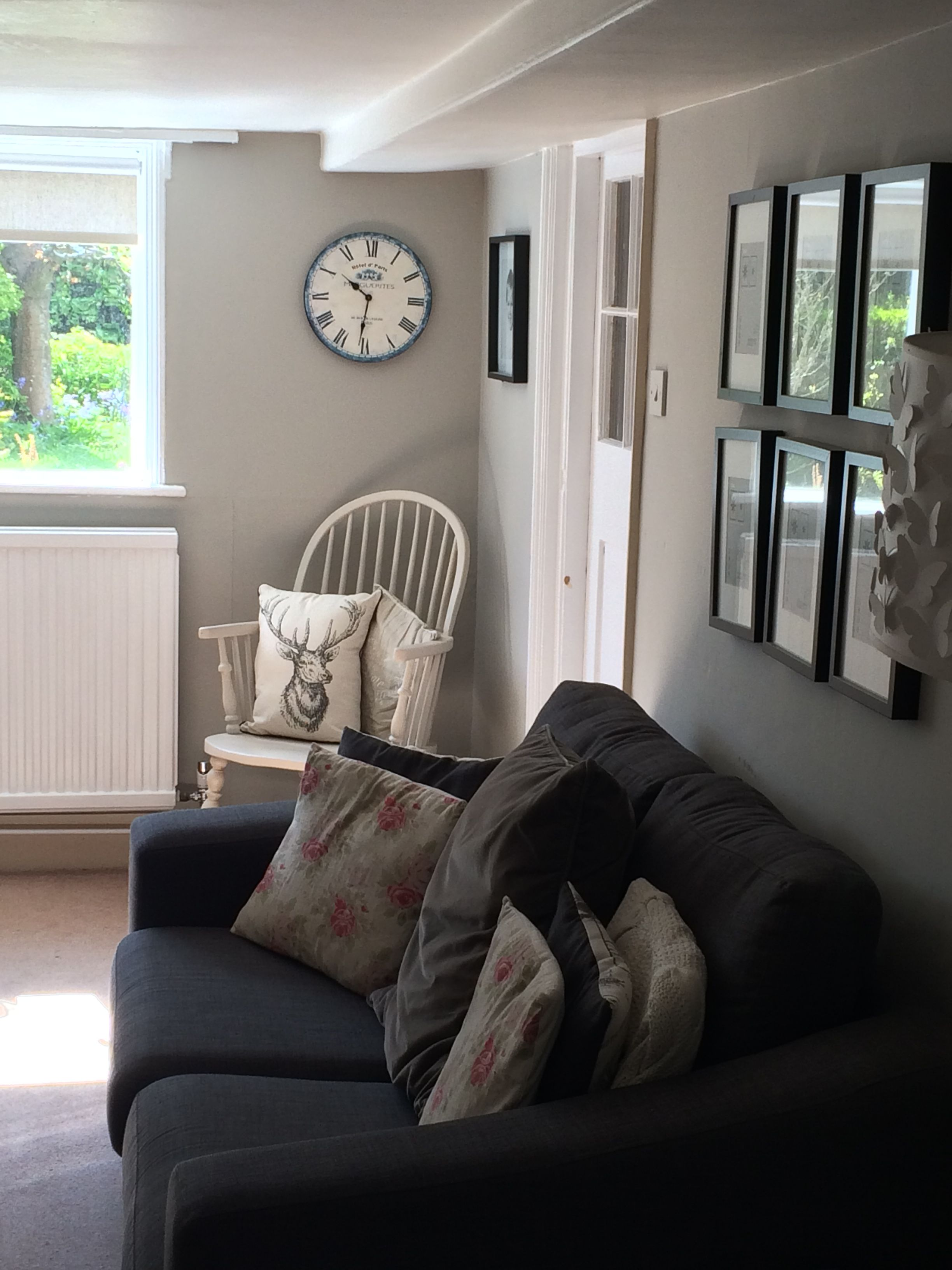 The Snug Painted In Farrow And Balls Purbeck Stone A Beautiful Warm Grey Home Decor Living Room Home