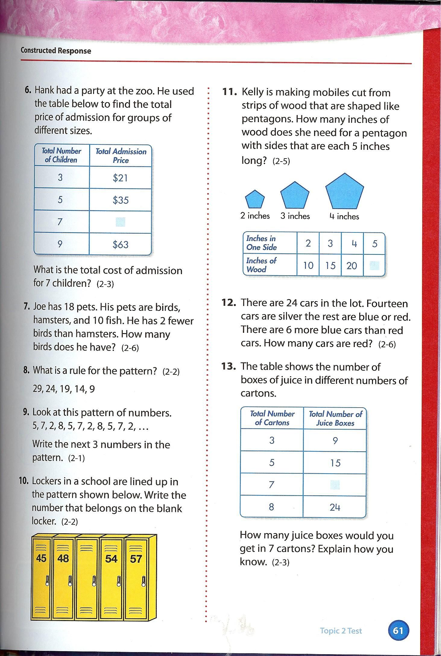 Pearson Education Math Worksheets