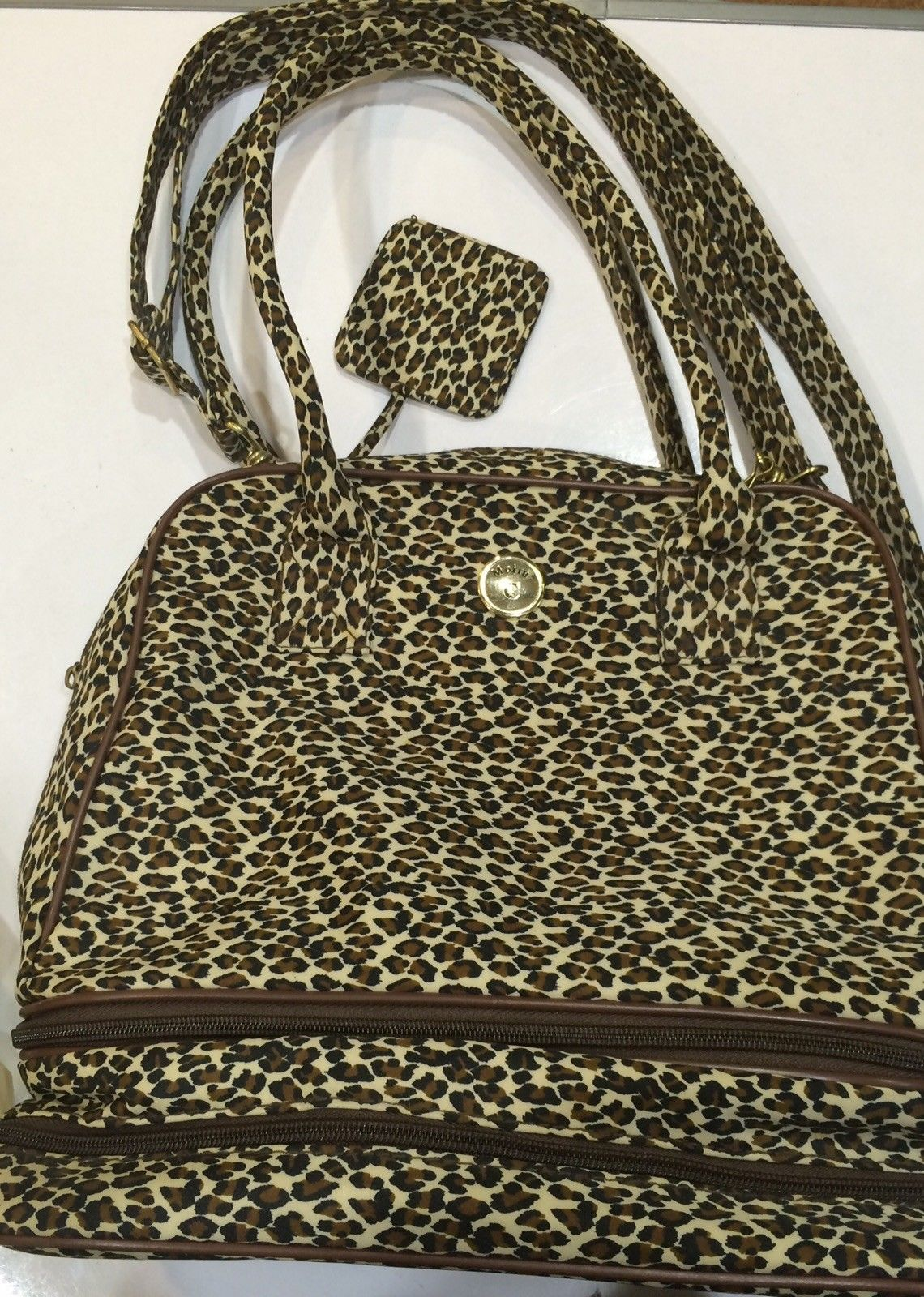 Moira C Leopard Print Tote Bag With Detachable Base For Shoes Umbrella Ebay