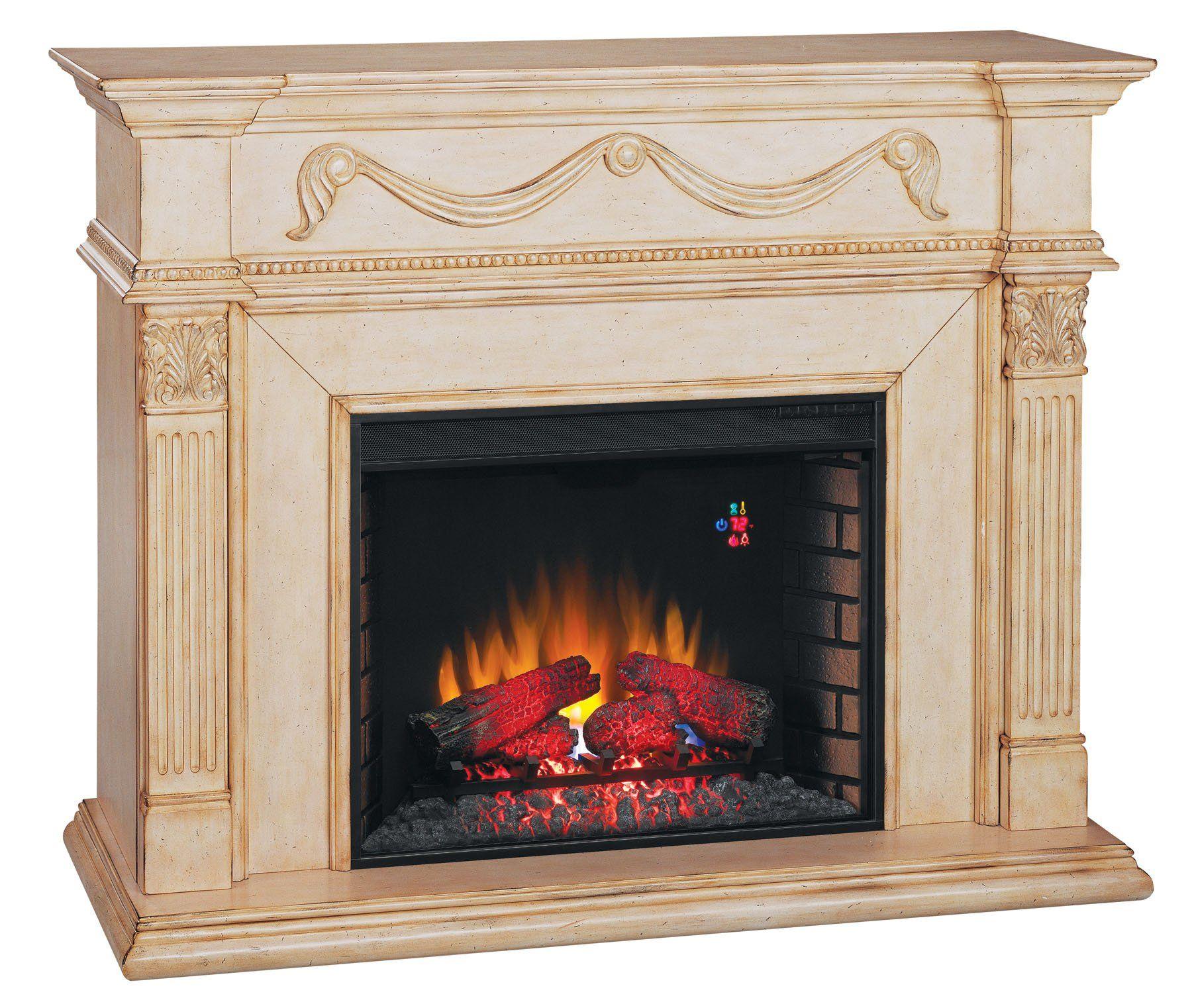 Classicflame Gossamer Wall Fireplace Mantel Antique
