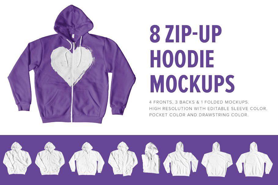 Download 8 Premium Zip Up Hoodie Mockups Hoodie Mockup Zip Ups Hoodies