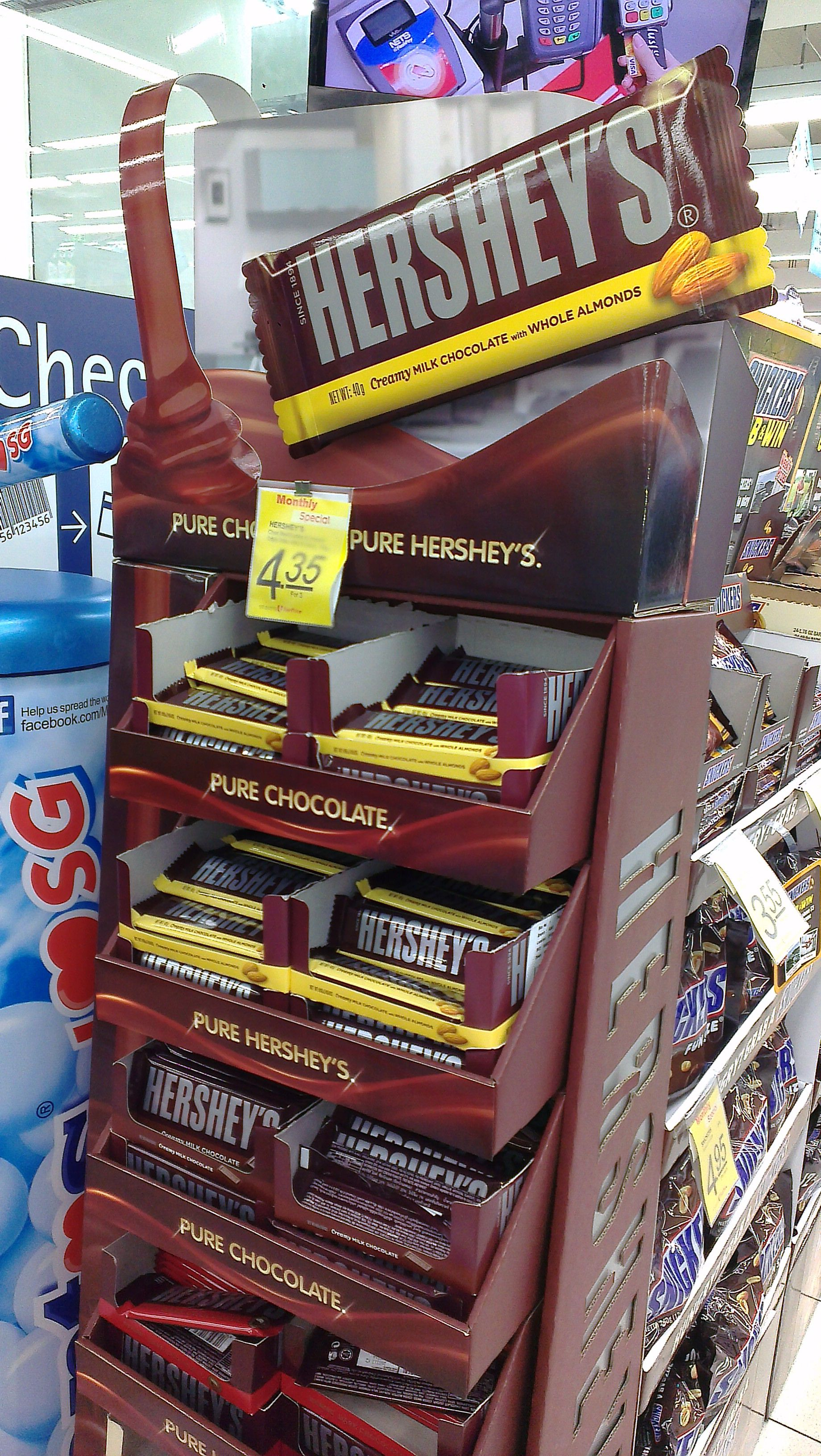 "Hershey's ""Pure Chocolate, Pure Hershey's"" Product Display 