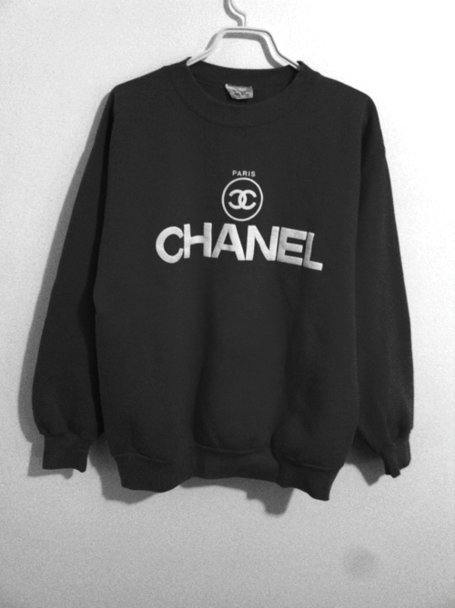 chanel hoodie. there are 49 tips to buy this sweater: clothes pink chanel sweatshirt top black shirt crewneck wow oversized blouse logo black. hoodie c