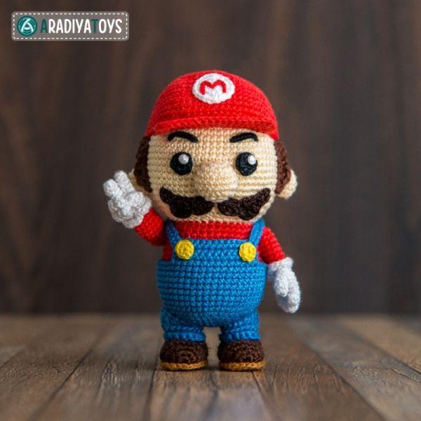 Amigurumi Hongo Mario Bros : Mario ( Super mario bros, Mario bros and Amigurumi