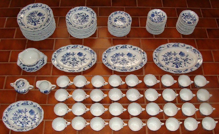 The Ultimate 139 PC Complete Blue Danube China Dinnerware Set WOW | eBay