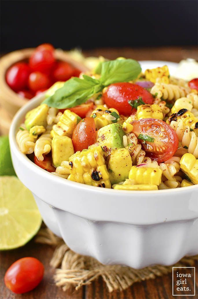 Grilled Corn and Avocado Pasta Salad with Chili-Lime Dressing + 10 Memorial Day Side Dishes
