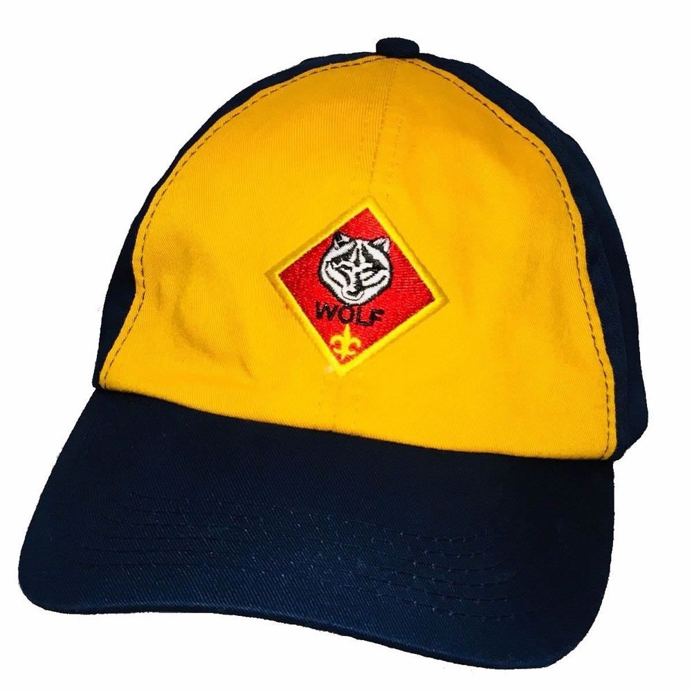460a9da6ebf Cub Scout Wolf Hat Blue Yellow Cap BSA Youth Hat