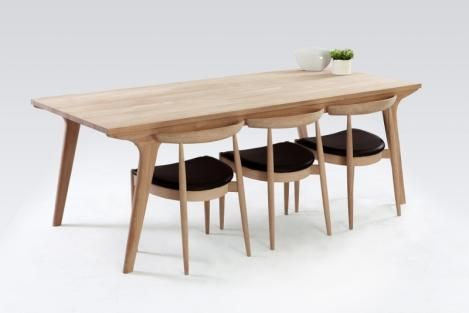 Danish Modern Oak Dining Table