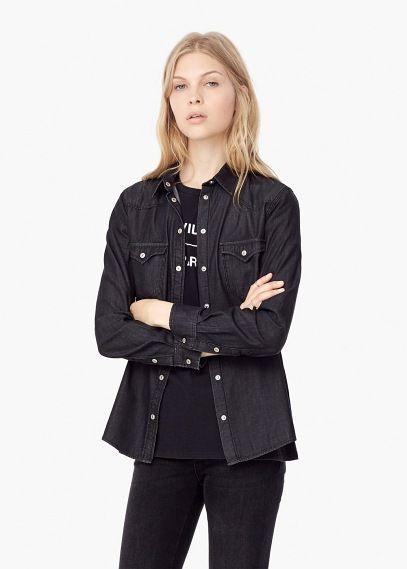 Camisa ganga escura | MANGO