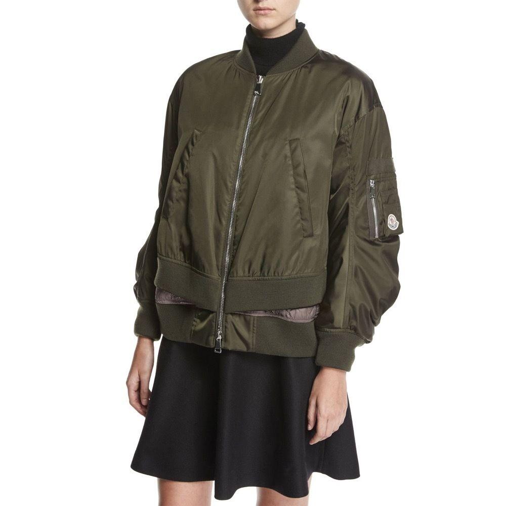 Moncler Bomber Ar Alia Bomber Jacket 5 Bomber Jacket Jackets Green Fashion Outfits [ 1000 x 1000 Pixel ]