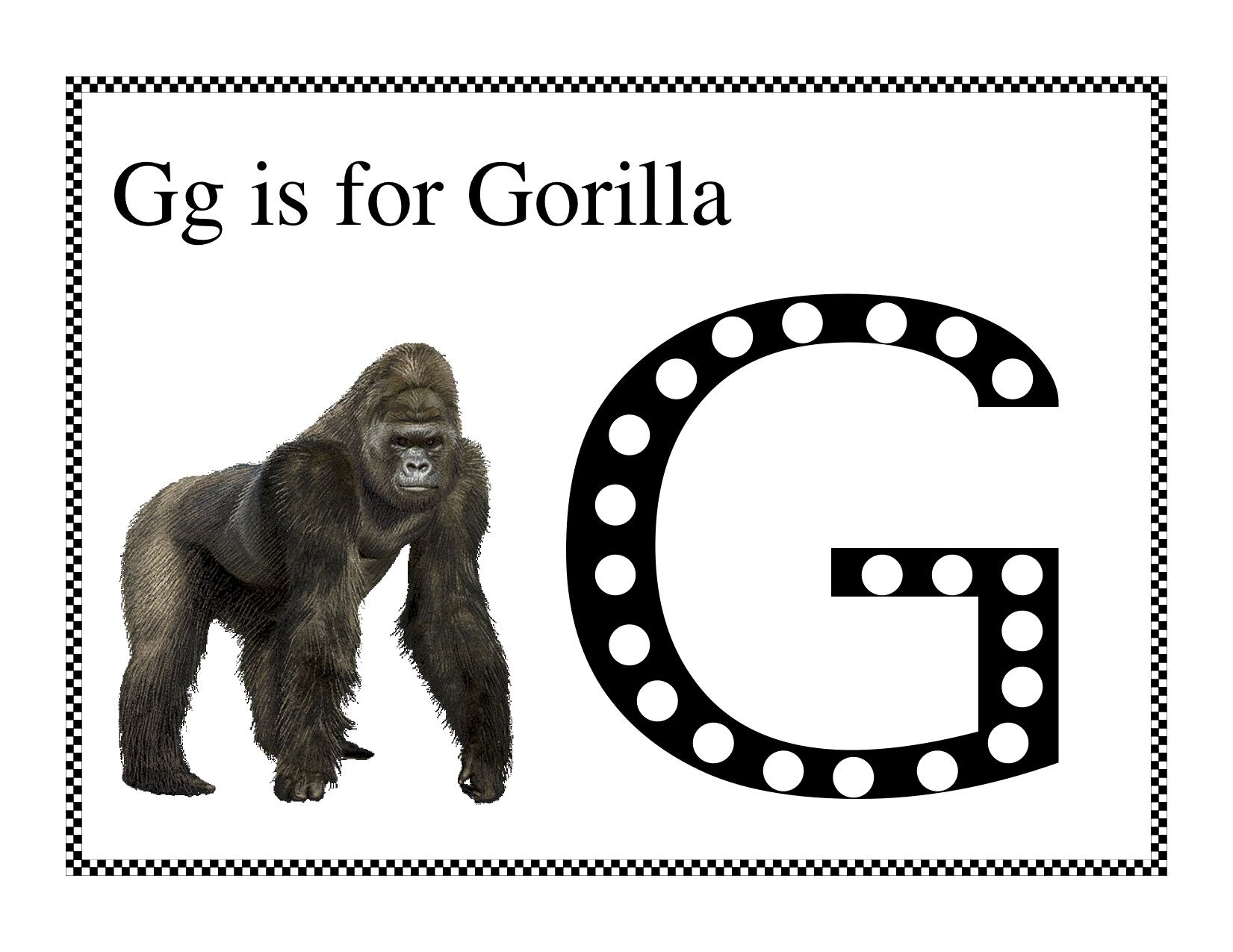 Gorilla Do A Dot With Images