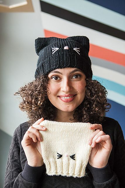 C'Mon, Cat Happy! pattern by Pattymac Knits #beanies
