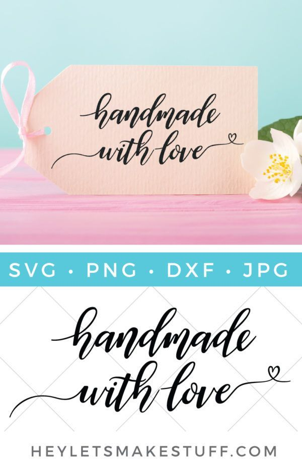 Download Hand-Lettered Handmade with Love SVG | Handmade, Cricut ...