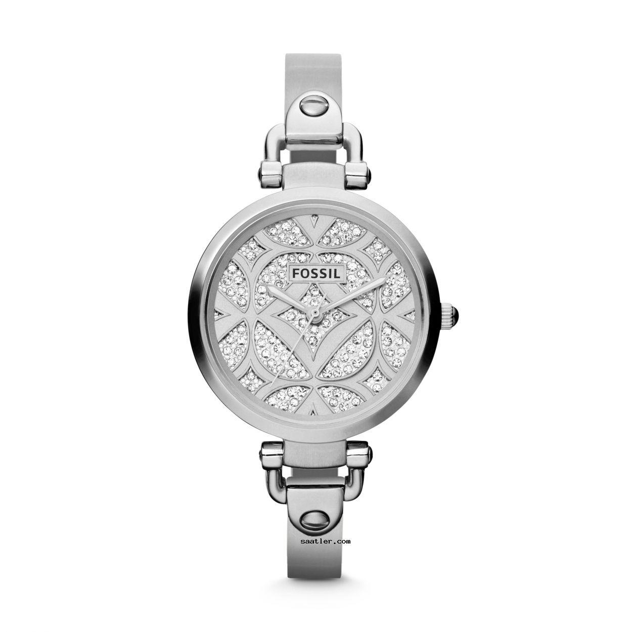 Fossil Es3292 Bayan Kol Saati Bayan Saatleri Swarovski Klasik