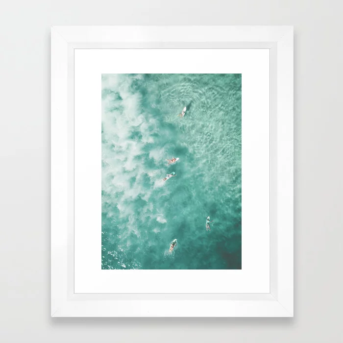 Buy Surfing In The Ocean Framed Art Print By Scissorhaus Worldwide Shipping Available At Society6 Com Just One Of Mil Framed Art Prints Framed Art Art Prints